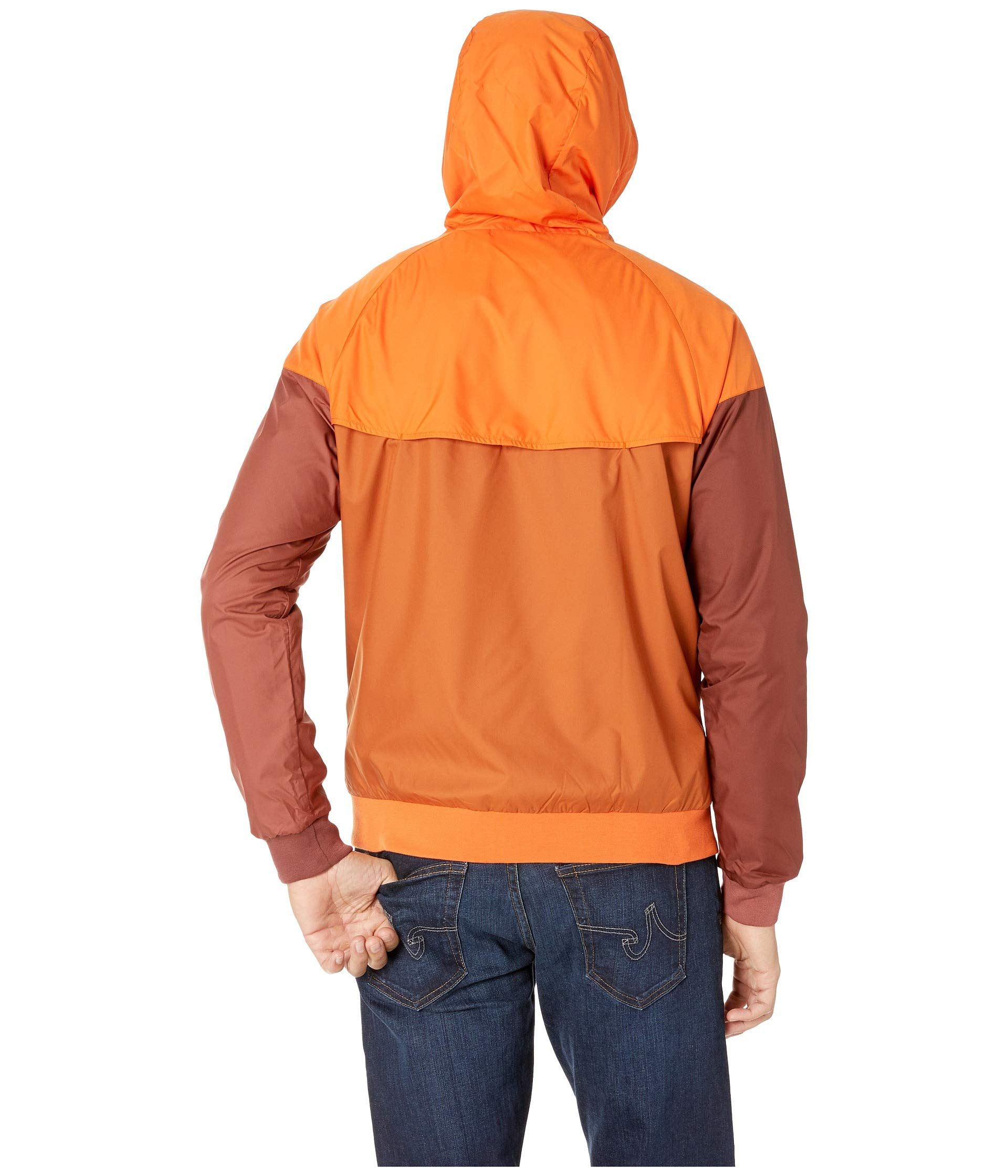 Nike Men's Windrunner Full Zip Jacket (Cmpfre Ornge/Dk Russet/Small) by Nike (Image #4)