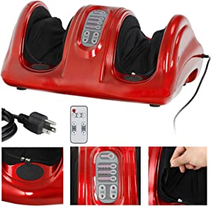ZENY Shiatsu Foot Massager Machine Kneading and Rolling Leg Calf with Remote Control Personal Home Health Care Tool,Muscles Relaxation