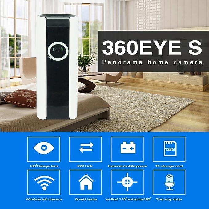DongAshley IP Cámara De Vigilancia Video De Alarma Sistemas De Seguridad Para El Hogar Cámara Inalámbrica Mando A Distancia Del Teléfono Móvil Detección De ...