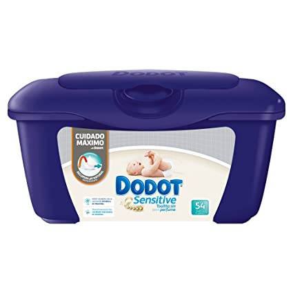 Dodot Sensitive - Toallitas para bebé, 54 unidades