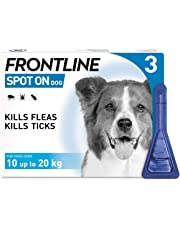 FRONTLINE Spot On Flea & Tick Treatment for Medium Dog (10-20kg) 3 Pipettes