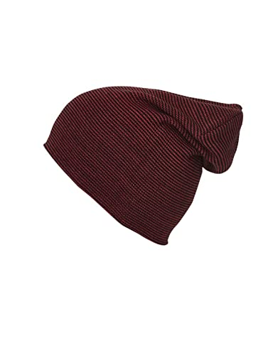 myrtle beach Casual Long Beanie in indian-red/black Taglia: Taglia unica