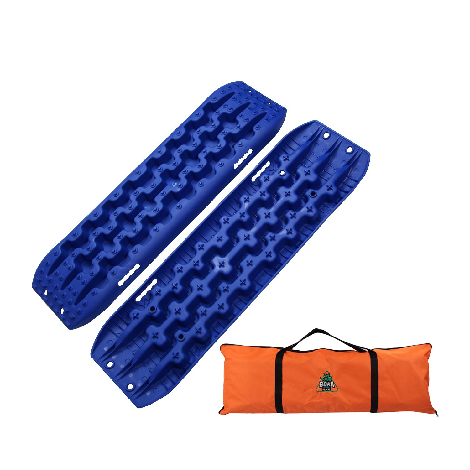 OFFROAD BOAR Recovey Tracks Sand Mud Snow Traction Boards(2Pack) (Orange) BOAR OFFROAD
