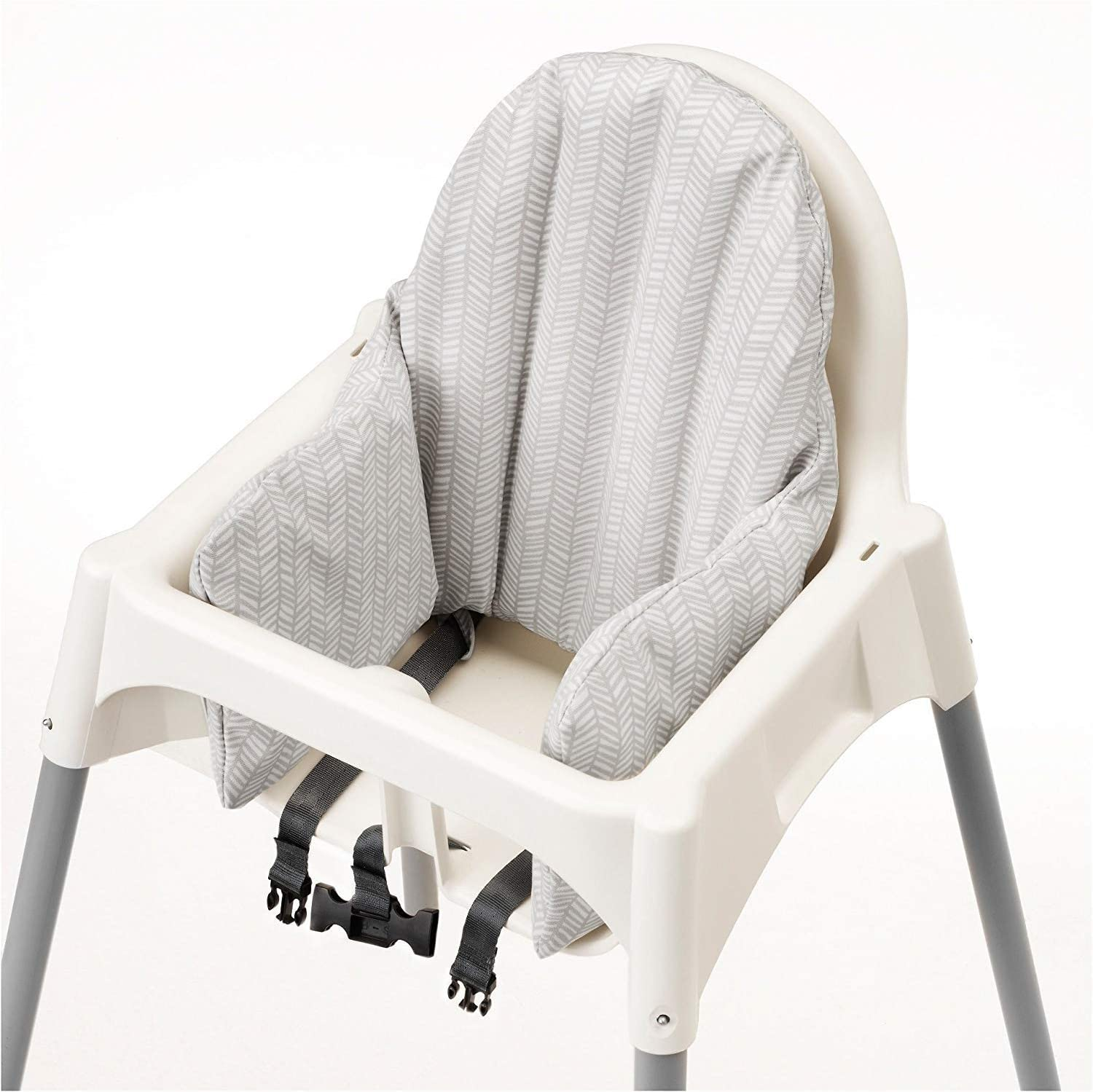 Ikea Antilop Highchair With Tray Safety Belt White Silver Colour