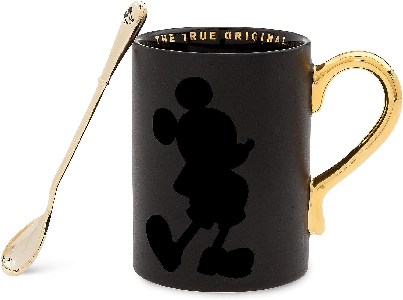 1 Disney Mickey Mouse Face Black //White Mug Cup