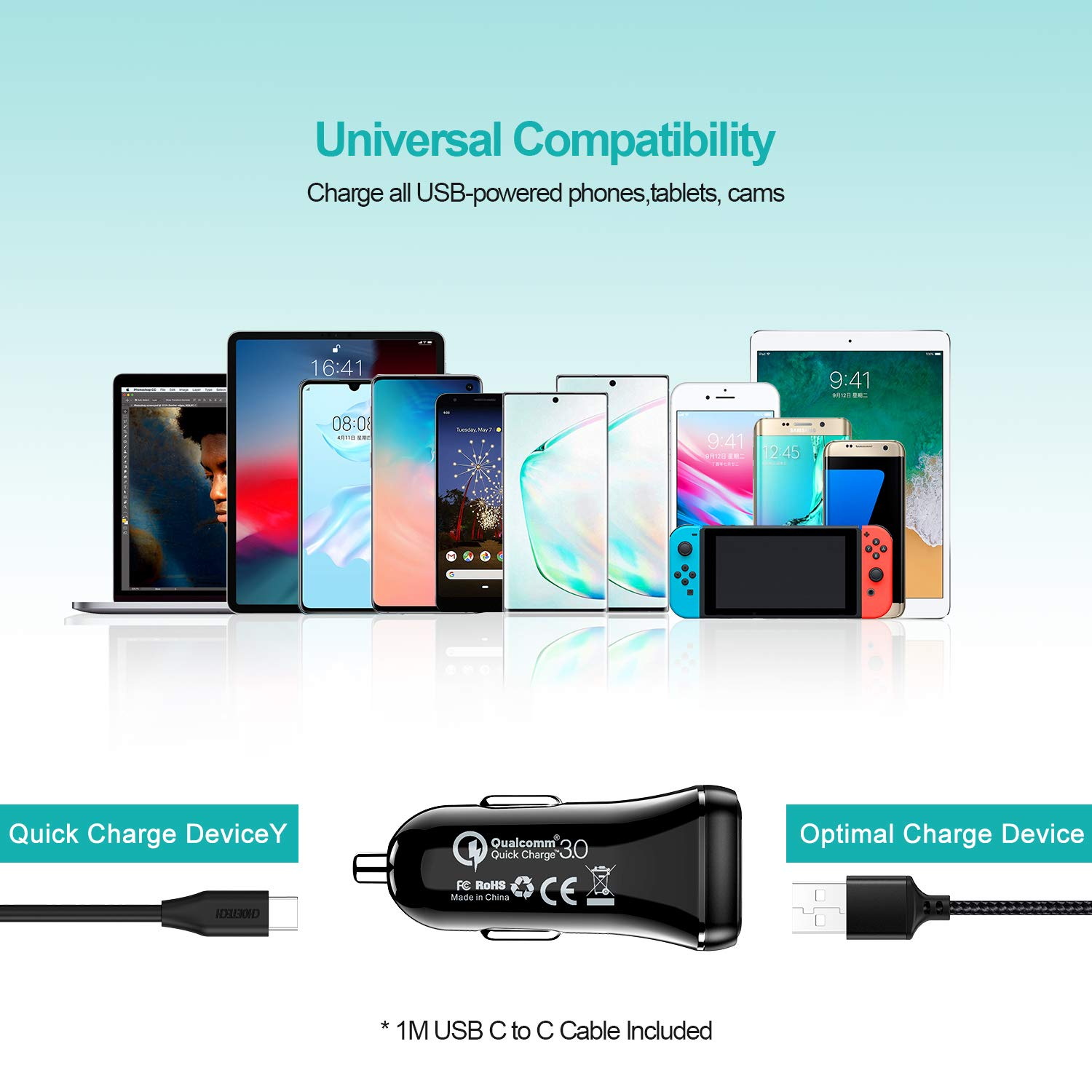CHOETECH USB C Charger Samsung Galaxy Note 10+//Note 10,iPad Pro 36W USB Type C Charger with 18W Power Delivery /& 18W Quick Charge 3.0 Compatible iPhone SE//11//11 Pro Max//X//XS Google Pixel 3 //3XL