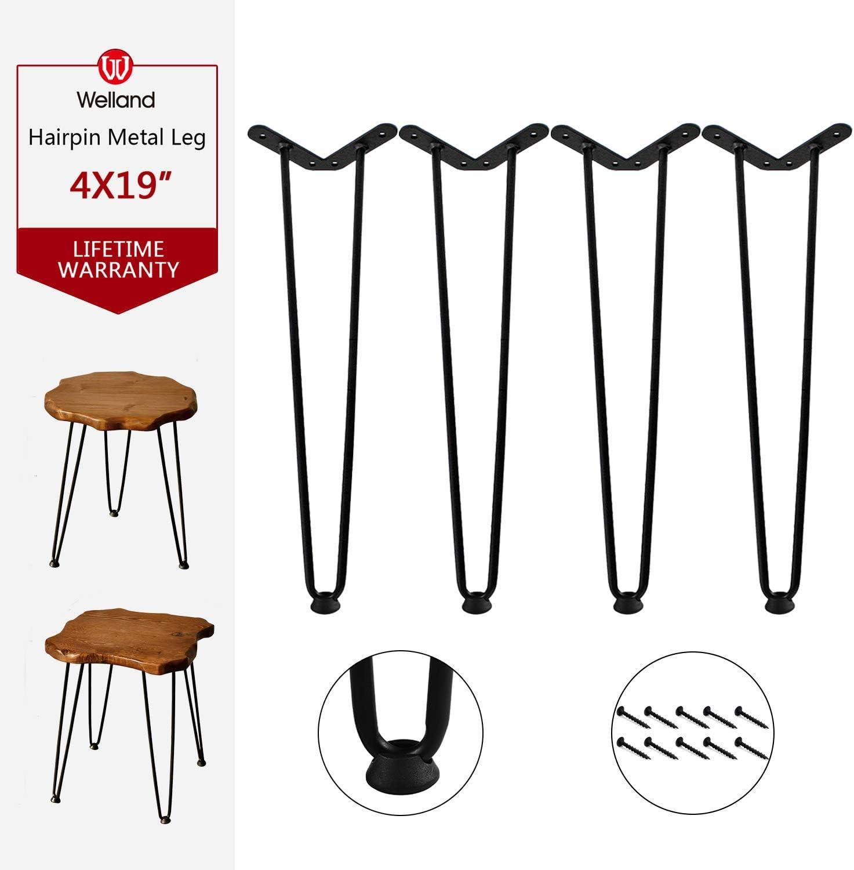Metal Table Leg 24 inch hairpin legs 3//8 round SHIPS Same Day Free Hairpin Leg