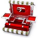 Handicrafts Gift House Colorful Mayur Meenakari Work Red Jewellery Box 370,Silver,