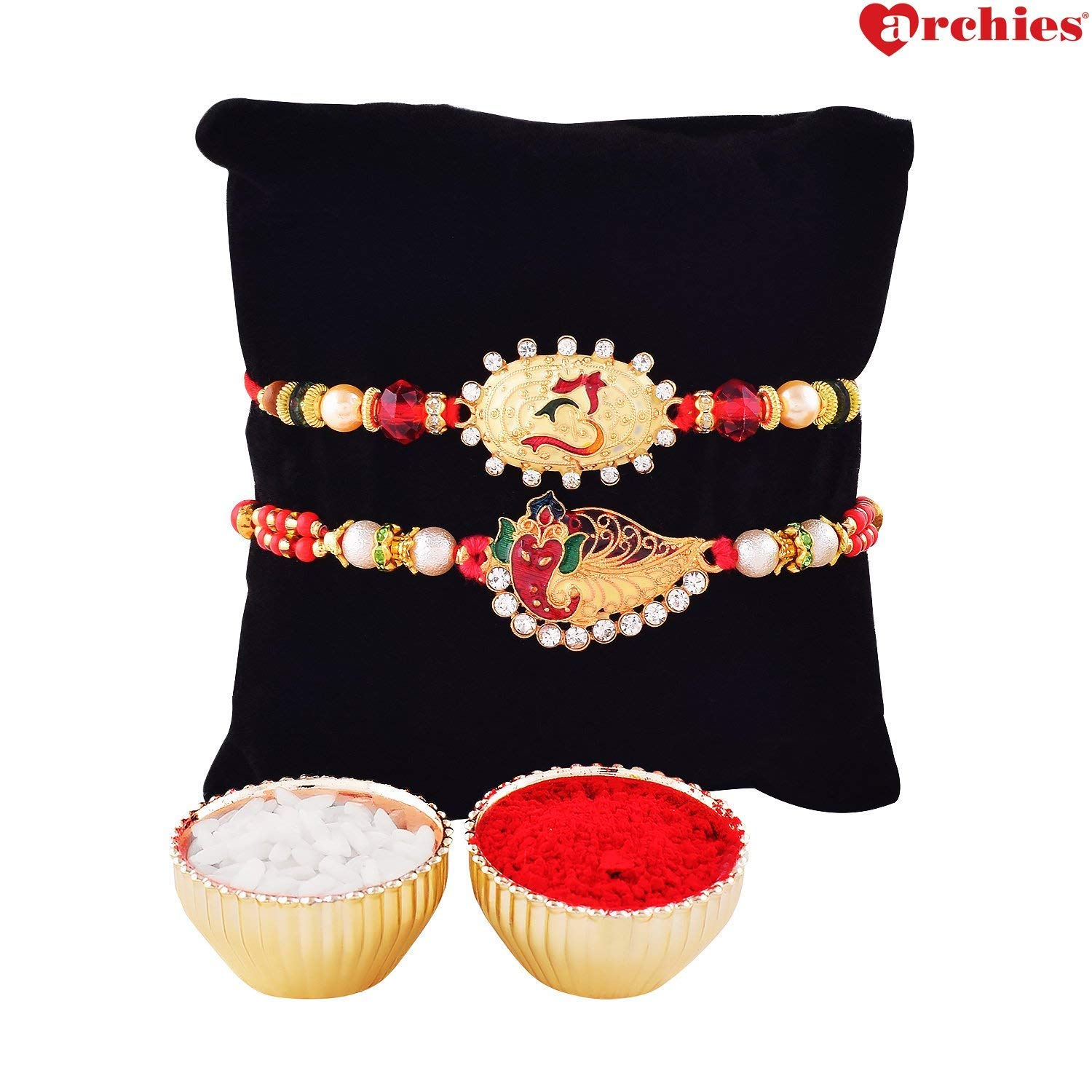 Archies Rakhi For Brother Beautiful Om Rakhi Ganesha Rakhi With