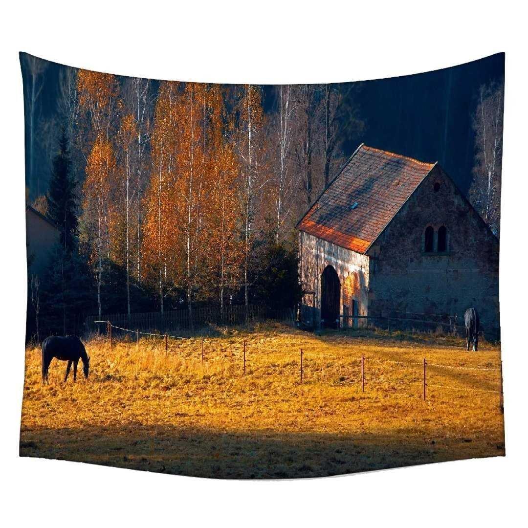Snoogg caballo cobertizo colgar en la pared indio Mandala tapiz colgante de pared Dormitorio tapiz decorativo playa Picnic hoja, Hippie tapiz de pared ...