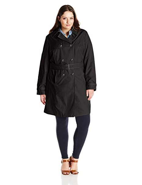 8dddc5adf3f T Tahari Womens Plus Size Laurie Classic Double Breasted Trench Coat with  Lace Detail Trenchcoat  Amazon.ca  Clothing   Accessories
