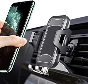 iCaroad Universal Car Phone Mount, Hands-Free Cell Phone Holder for Car Air Vent Compatible iPhone 11 Pro Max/X/XS/XS Max/XR/8 plus/8/7/6/5, Samsung Galaxy S10+/S9/S9 Plus/S8/S7/Note 10+/9/8 and More