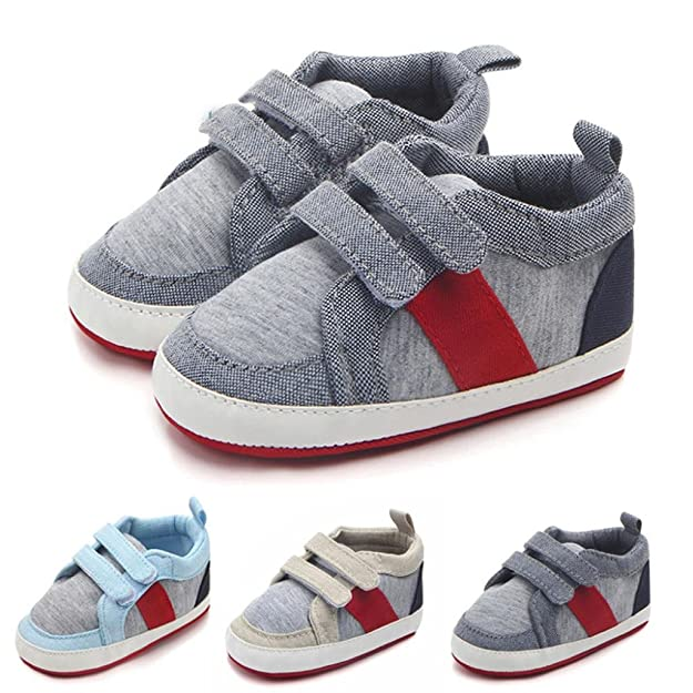 9-12 Months Pink 6-9 UK1.5-UK2.5 Momola Newborn Toddler Baby Infants Girl Boy Unisex Soft Sole Anti-Slip Canvas Casual Shoes Sneaker Buckle Prewalker Crib Shoes 3-6