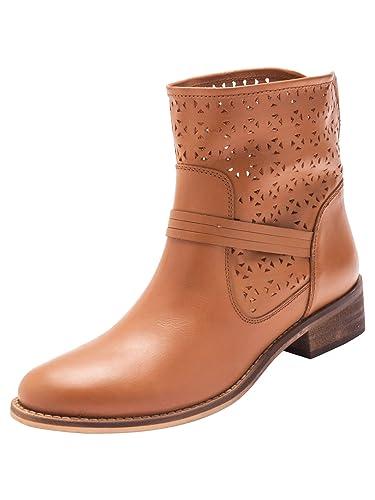 6b5d49f30c06f4 Balsamik - Boots ajourées, en Cuir - Femme - Taille : 40 - Couleur ...