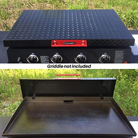 Stainless Steel Hardware Black Aluminum Diamond Plate Lid Custom Industrial Over Sized Handle Cataumet 36 Inch Griddle Hard Cover