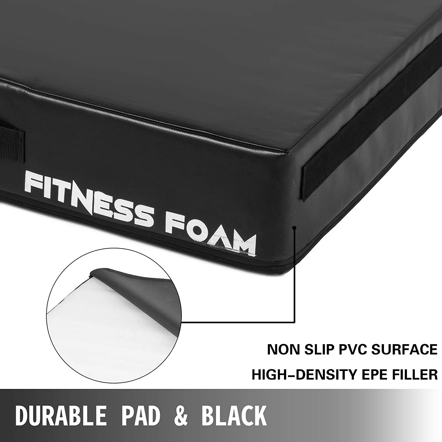 Weightlifting Protector Falling Pads,Cushioned Foam Mat for Olympic Weightlifting One Pair Happybuy 6//9//10inch Barbell Crash Cushion Pads