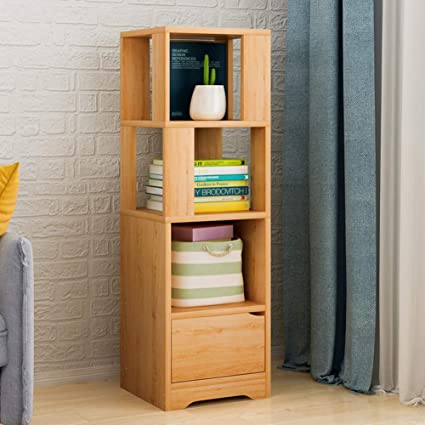 8804ab71891 Image Unavailable. Image not available for. Color  HM DX Wood Storage  Bookcase Corner Bookshelf Tall ...