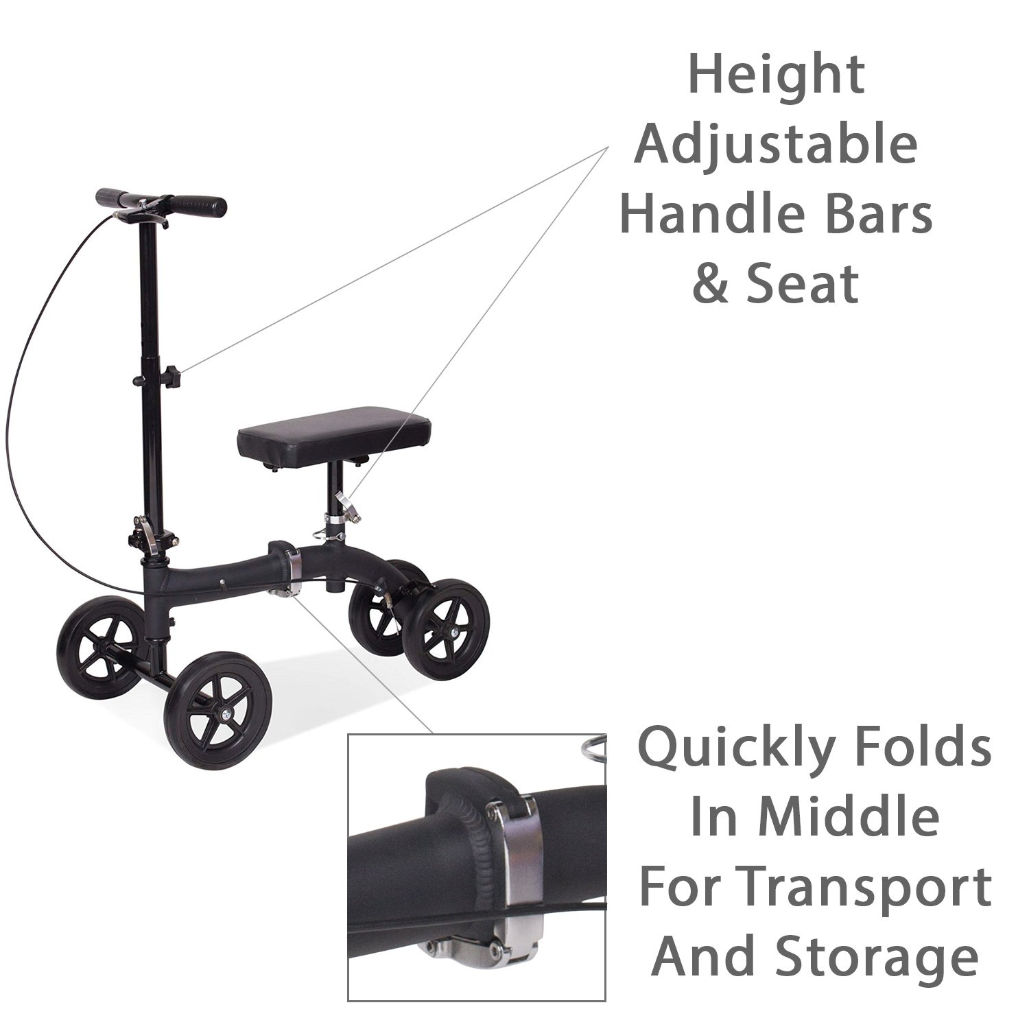 Amazon Com Carex Folding Knee Walker Scooter Knee Scooter For