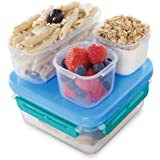 Rubbermaid LunchBlox Leak-Proof Entree Lunch Container Kit, Small, Blue