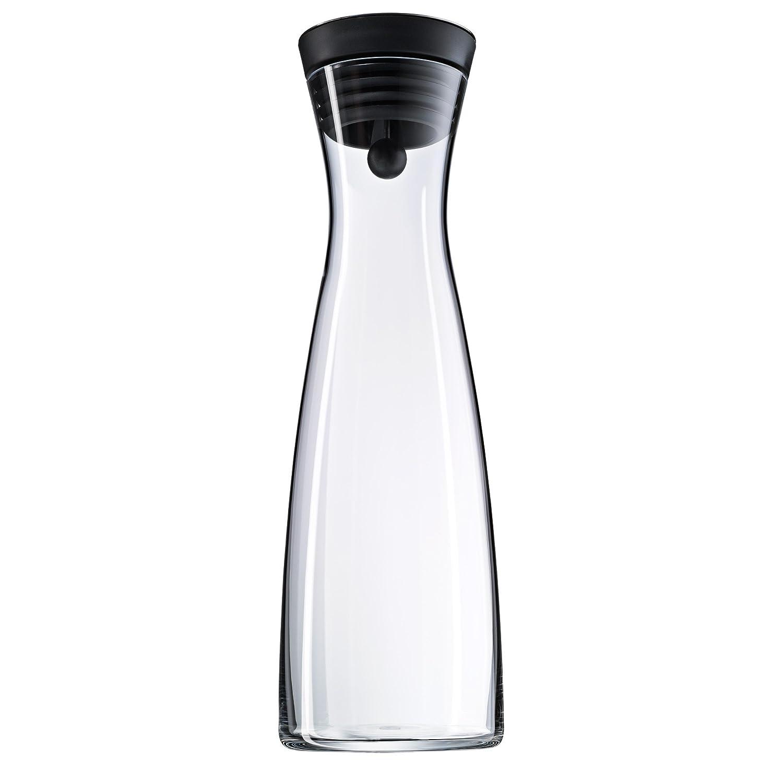 Botella de cristal con tapa y colador