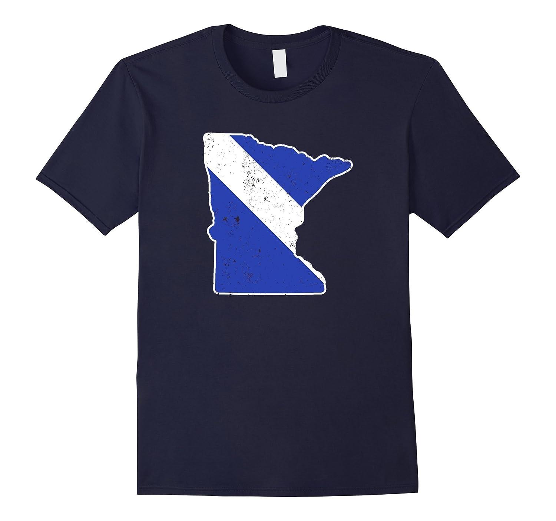 Minnesota EMT Paramedic Thin White Line Flag Shirt-TD