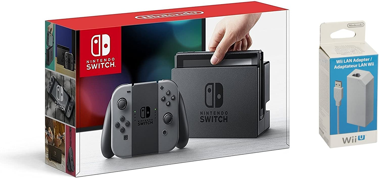 Nintendo Switch - Consola color Azul Neón/Rojo Neón + Adaptador Lan Wii U, compatible con Nintendo Switch: Amazon.es: Videojuegos
