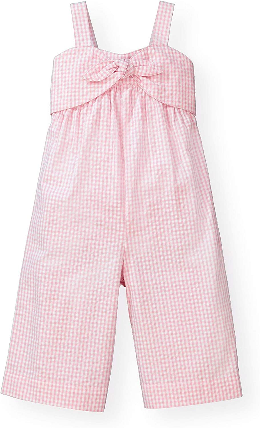 Hope /& Henry Girls Bow Front Wide Leg Jumpsuit