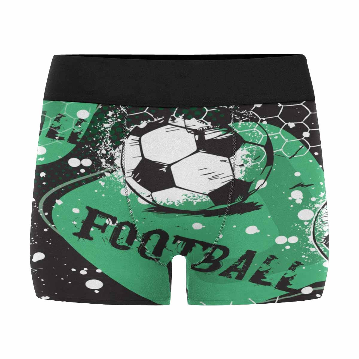INTERESTPRINT Mens Boxer Briefs Grunge Urban with Football Ball XS-3XL
