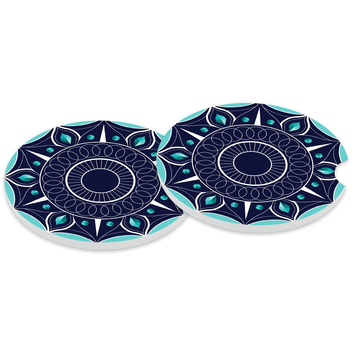 Absorbent Stoneware Car Coaster, Ceramic Auto Cupholder Coasters, Set of 2 Stone Coasters for Drinks Absorbent Getfitsoo