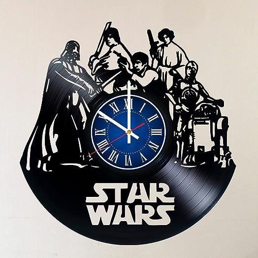 Star Wars 12 INCH / 30 cm Vinyl Record Wall Clock | Darth Vader | Luke Skywalker | Gift