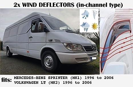 Oemm Windabweiser Für Mercedes Benz Sprinter W903 Mk1 Und Vw Lt Volkswagen Lt 1995 Bis 2006 Acrylglas Seitenvisier Fensterabweiser Van Auto