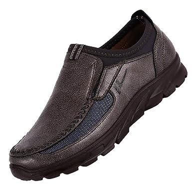 25940712720c LuckyGirls Mode Nouveau Homme Faux Suede Chaussures en Cuir Oxfords  Printemps Automne Oxford Chaussures Chaussons Style Mocassins - Faux suède  - Homme ...