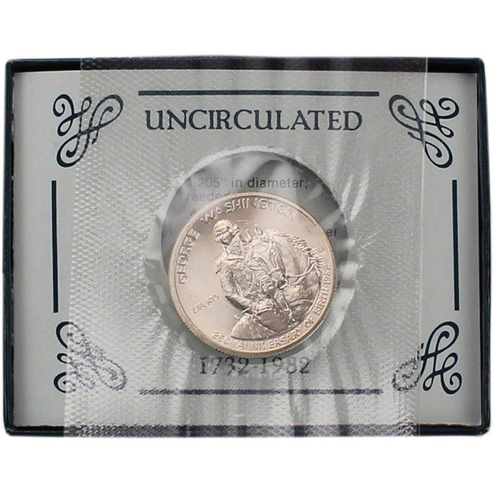 1982 George Washington 250th Anniversary UNCIRCULATED Box 90/% Silver Half Dollar