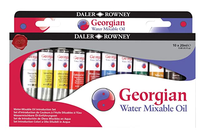 Daler Rowney Georgian Water Mixable Oil Set (10X20 ml) Paints at amazon