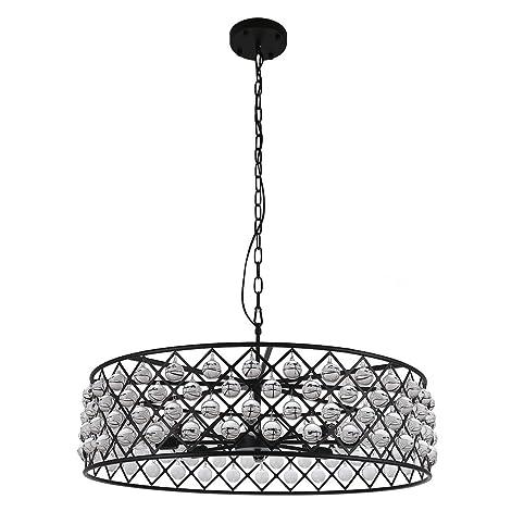 drum lighting pendant glass drum chandelier lights crystal round crystal chandelier pendant lighting fixture
