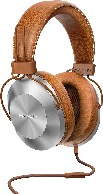 Pioneer SE-MS5T-T - Auriculares de tipo diadema (HiRes, power bass, micrófono, control de Smartphone), colo Marrón
