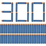 NextX Lot de 300 balles universelles de recharge pour pistolets Nerf N-Strike Série Elite Arme-Jouet Jeux de cible en mousse Sports d'extérieur (bleu) Noël