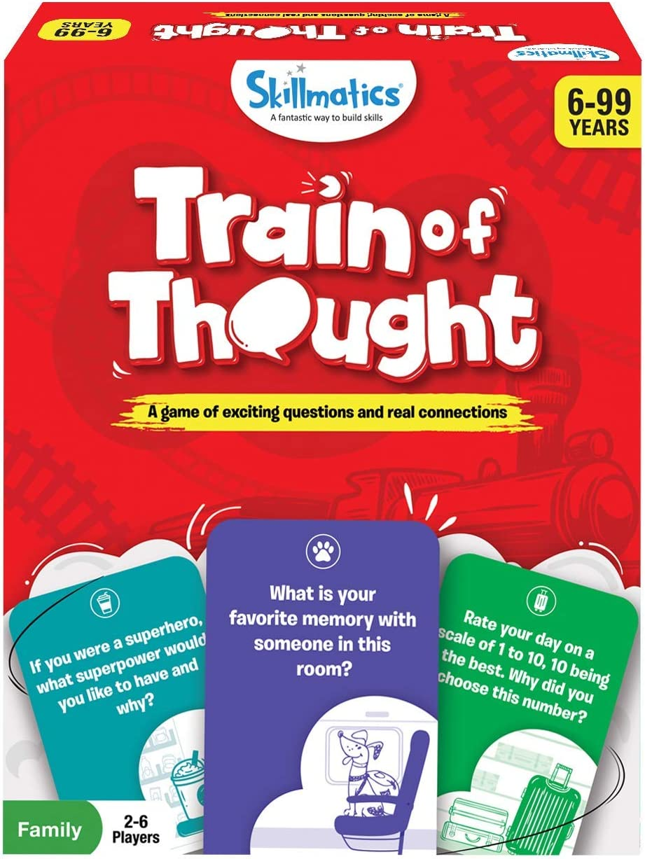 Skillmatics Card Game: Train of Thought | Super Fun & Interactive for Family Game Night | Gifts for All Ages 6-99 | Travel Games for Kids