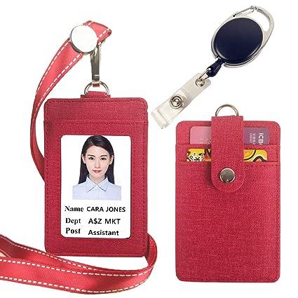 lucstar ID sintética Tarjeta identificativa con cordón, Back 2 ...