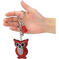 DIY Diamond Painting Kits, Verminder stress, Kunstbenodigdheden voor kinderen en volwassenen,(Red owl)