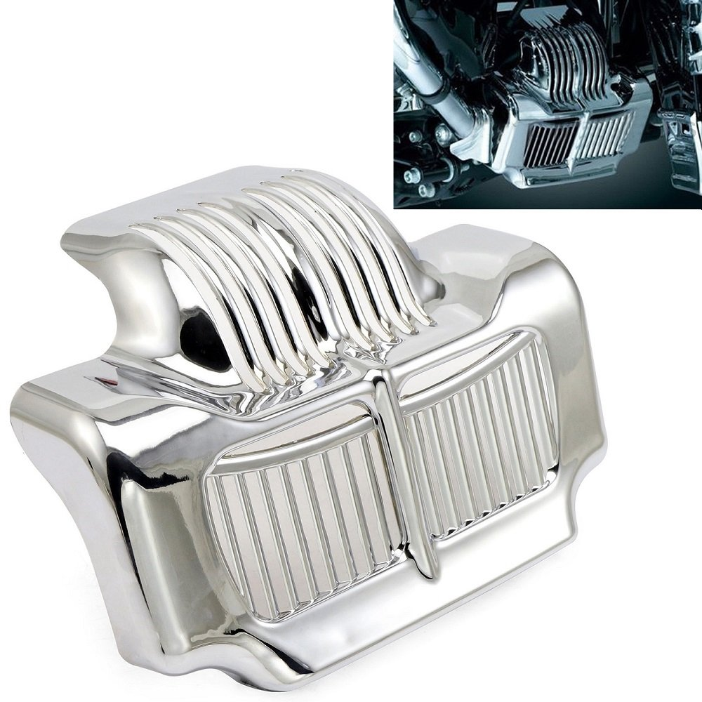 Stock Oil Cooler Cover For Harley Touring FLHT FLTR Electra Road Street Trikes Glide Road King 2011-2016 (Chrome) Motorgogo