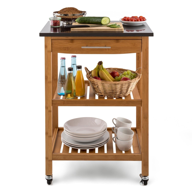Klarstein Tennessee carrito auxiliar de cocina con 3 niveles ...