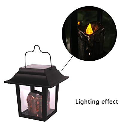 Solar Waterproof Umbrella Lantern Power Led Candles Hanging Lights For  Garden Yard Patio Lawn Wedding Outdoor