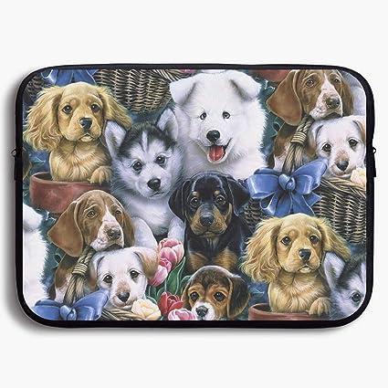 ea27a453409b Amazon.com: Laptop Sleeve Bag Cute Dog Adorable Illustration ...