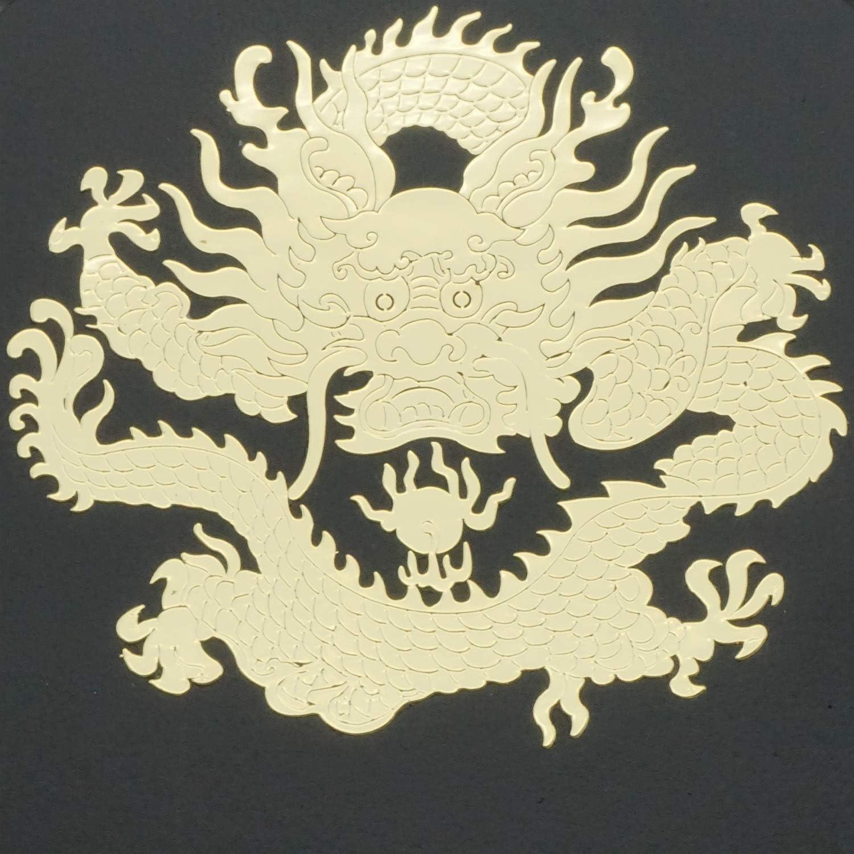 YANLIN Dragon Icon Porte-/Ép/ée Murale Rembourr/é Katana Stand Samurai Porte-/Ép/ée Pr/ésentoir-2-Tier