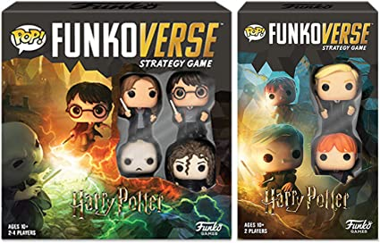 Amazon Com Funko Pop Funkoverse Harry Potter Strategy Game Bundle Of 2 Base Game Hp 100 And Expandalone Hp 101 Toys Games