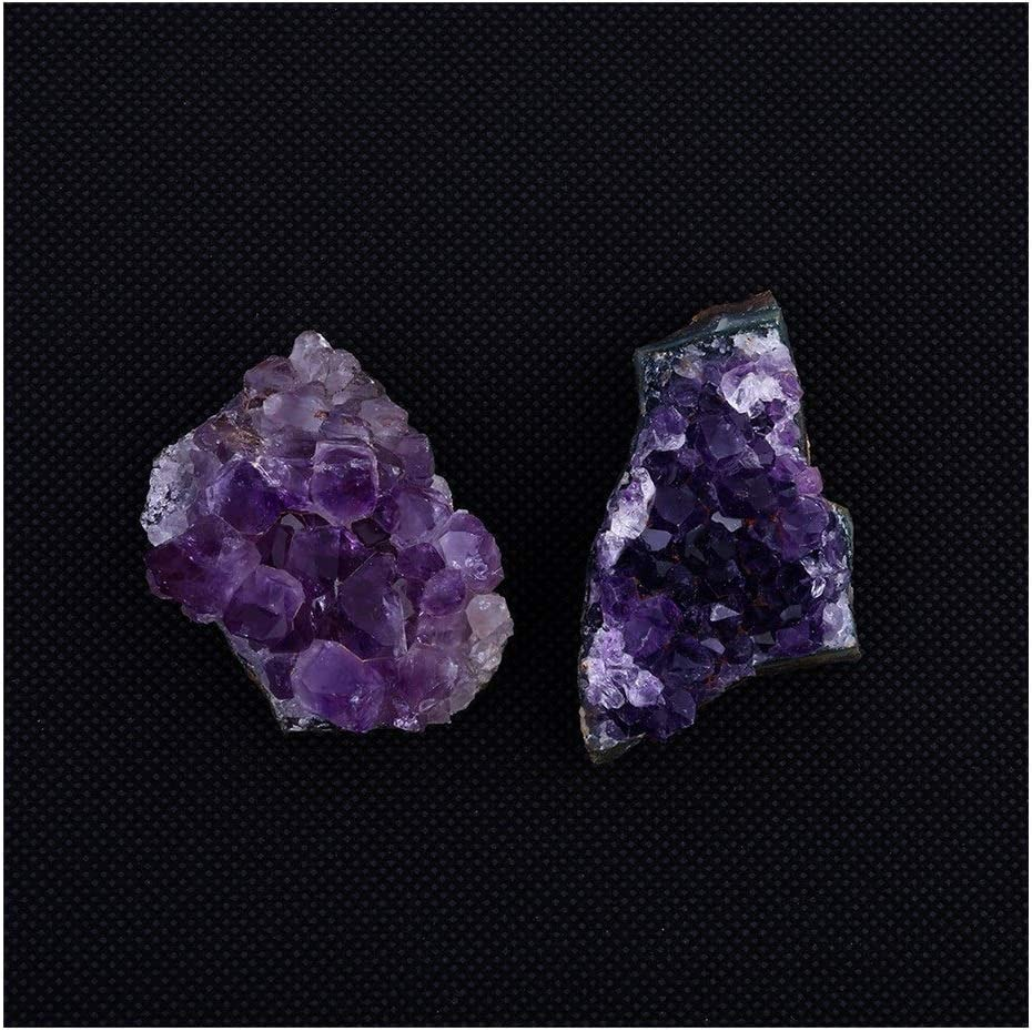 HAYQ Natural Raw Amethyst Quartz Crystal Cluster Healing Specimen Decor Natural Rock Mineral Specimen Irregular