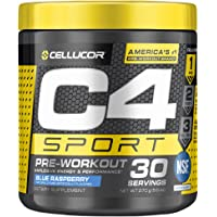 C4 Sport Pre Workout Powder Blue Raspberry | NSF Certified for Sport + Preworkout Energy Supplement for Men & Women…