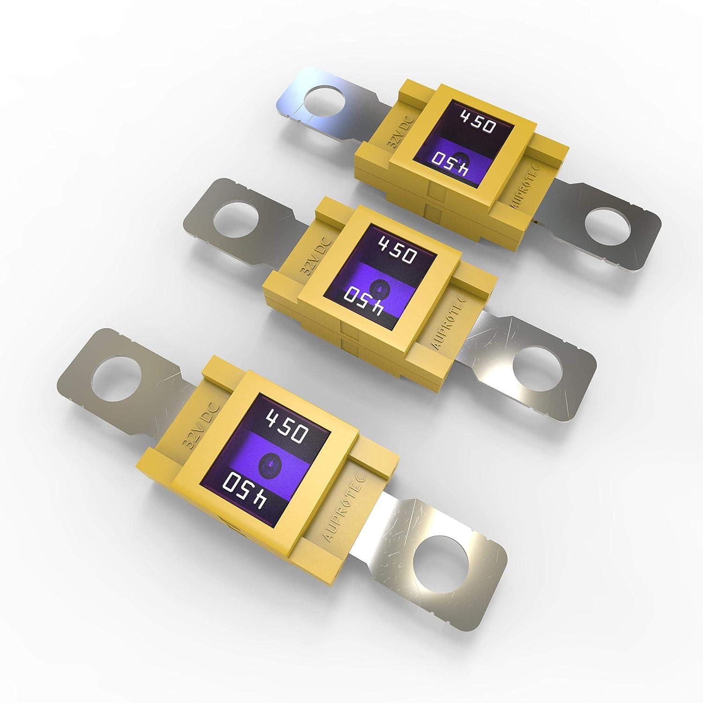 500A Auswahl 3 St/ück AUPROTEC Mega Hochstromsicherung Schraubsicherung 100A 150A Ampere rot