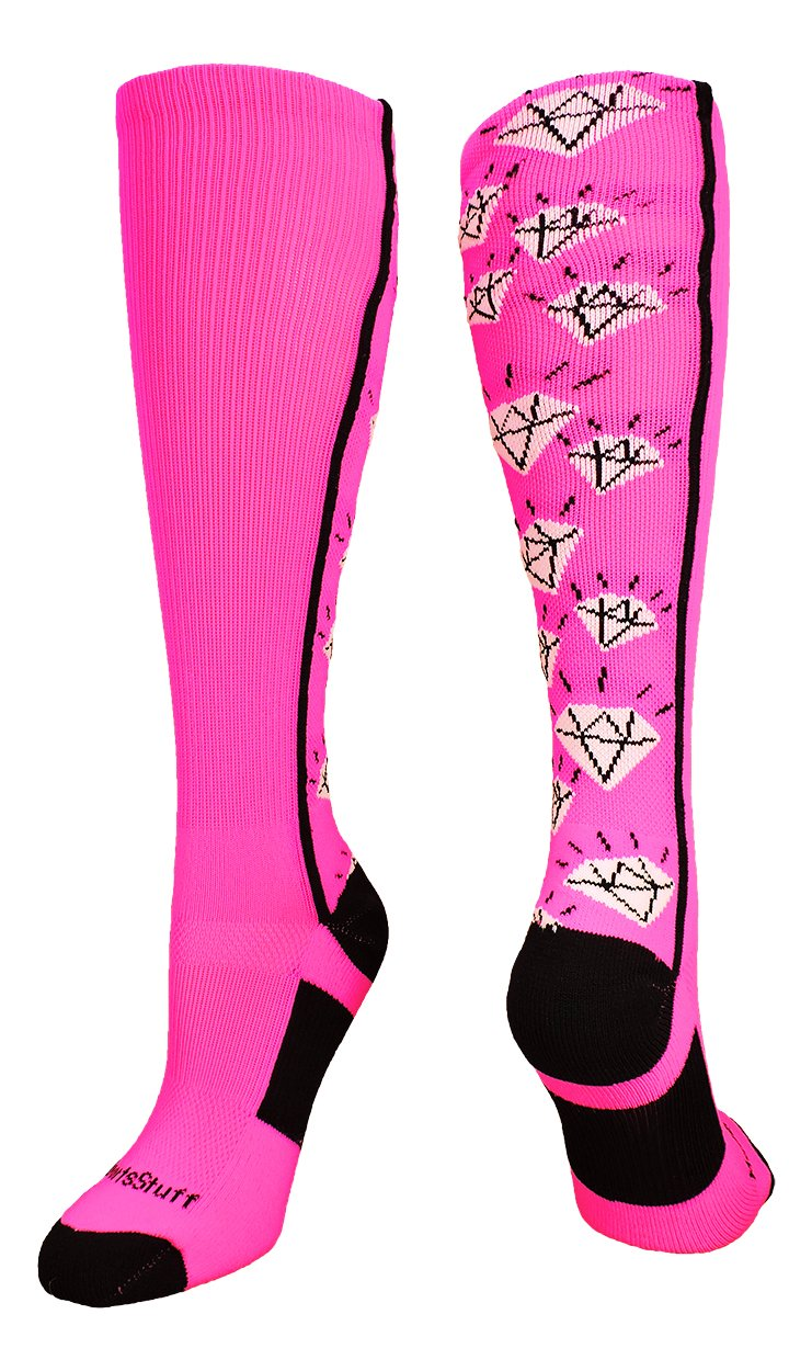 Multiple Colors MadSportsStuff Crazy Socks with Diamonds Over The Calf